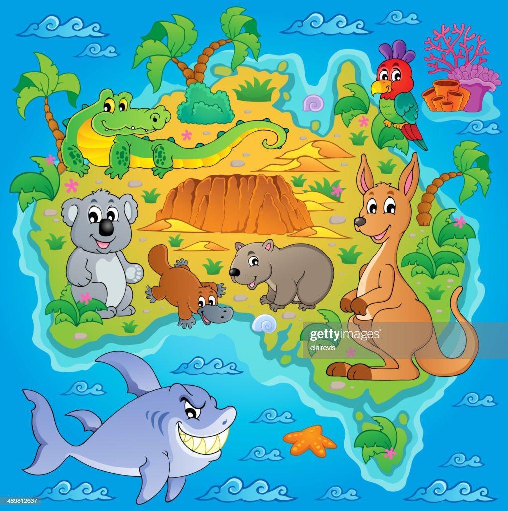 Australian map theme image 1