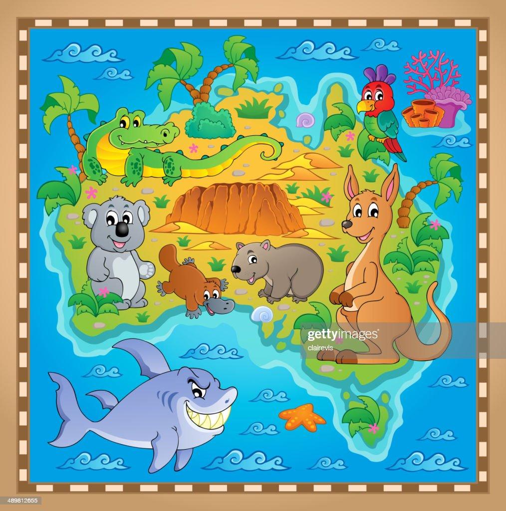 Australian map theme image 2