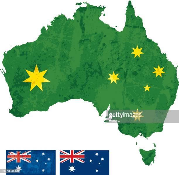 stockillustraties, clipart, cartoons en iconen met australische kaart - australian capital territory