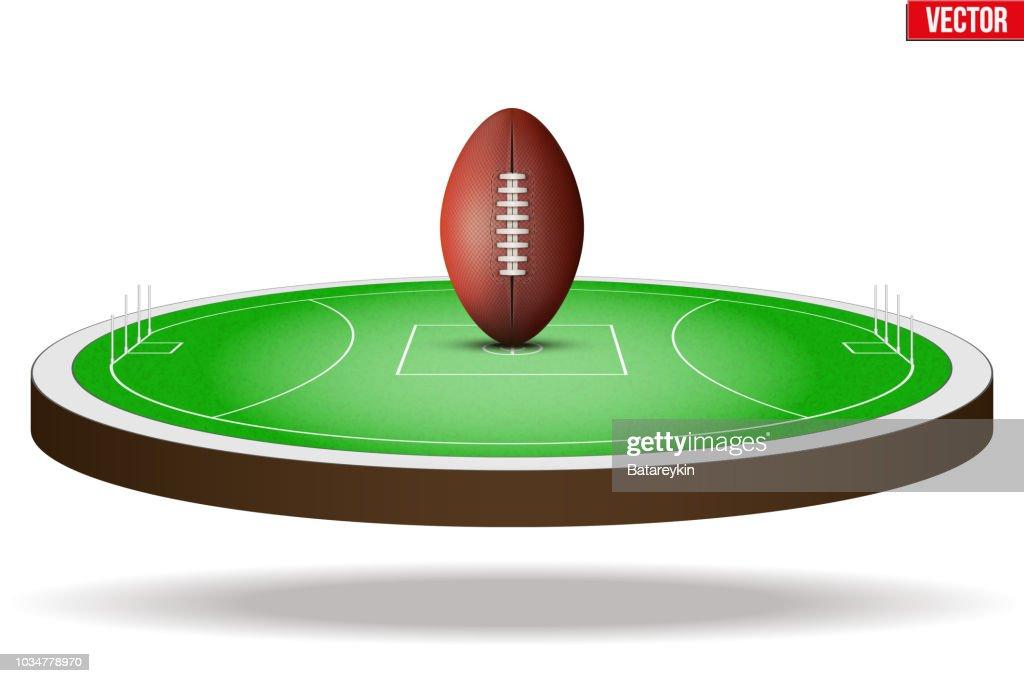 Australian rules football field stadium