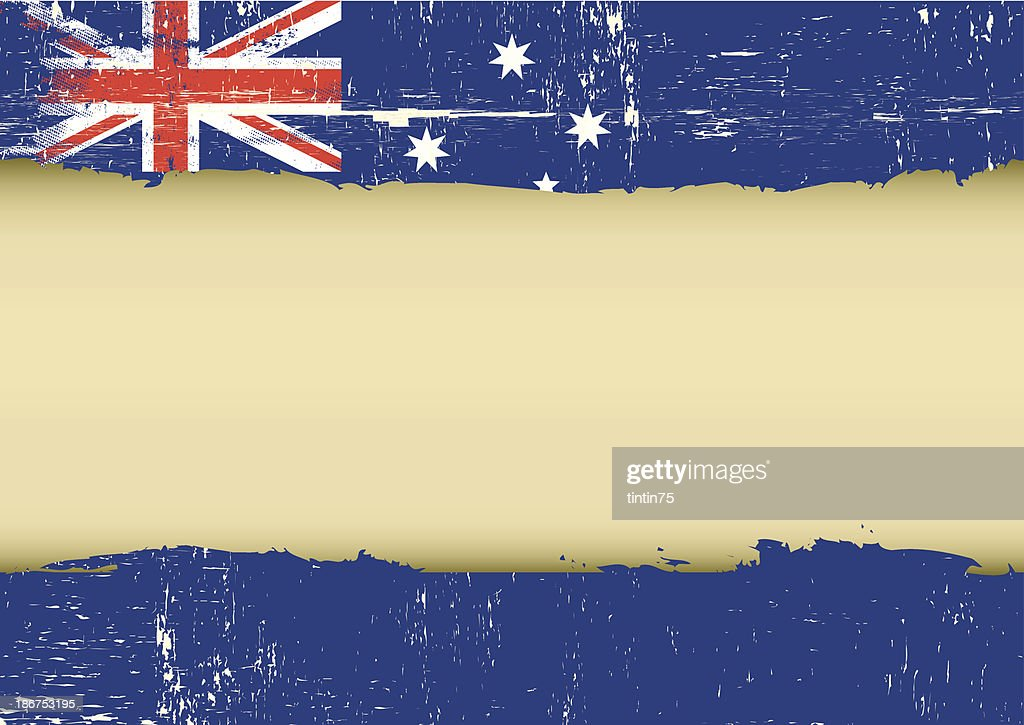 Australian scratched flag
