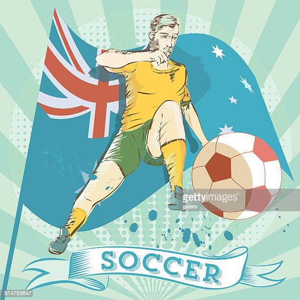 australian soccer scribble