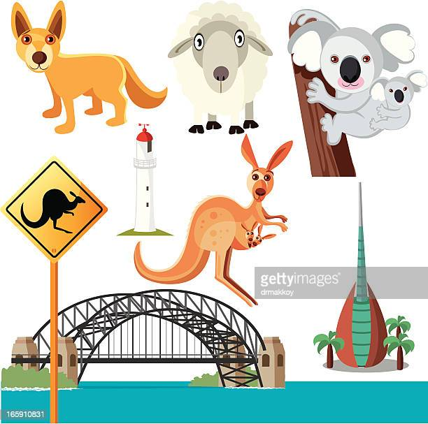 australian symbols - mammal stock illustrations, clip art, cartoons, & icons