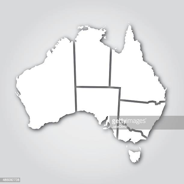 australian territories silhouette white - south australia stock illustrations