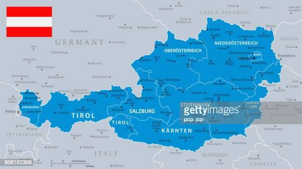 ilustraciones, imágenes clip art, dibujos animados e iconos de stock de 33 - austria - azul gris 10 - austria