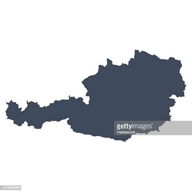 ilustraciones, imágenes clip art, dibujos animados e iconos de stock de mapa país de austria - austria