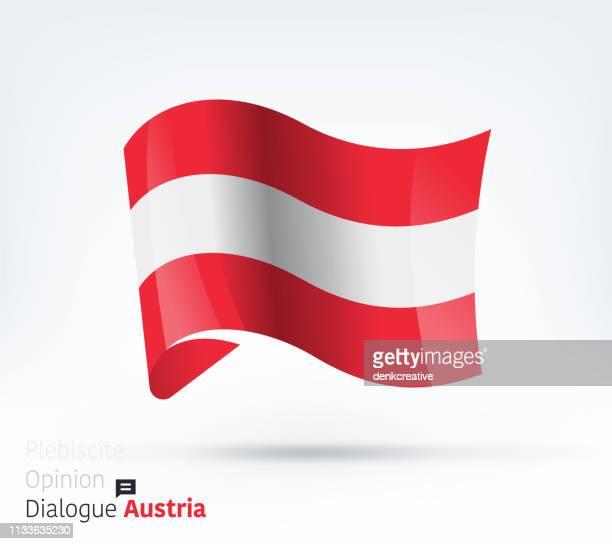 ilustraciones, imágenes clip art, dibujos animados e iconos de stock de bandera de austria diálogo internacional y gestión de conflictos - austria