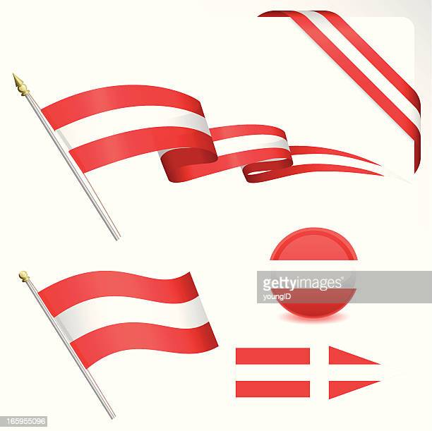 Österreich Flagge Set