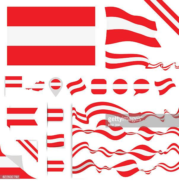 ilustraciones, imágenes clip art, dibujos animados e iconos de stock de bandera de austria - austria