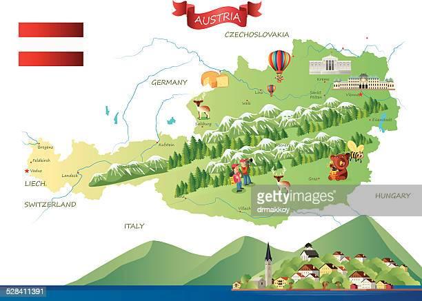 ilustraciones, imágenes clip art, dibujos animados e iconos de stock de austria hallstatt - austria