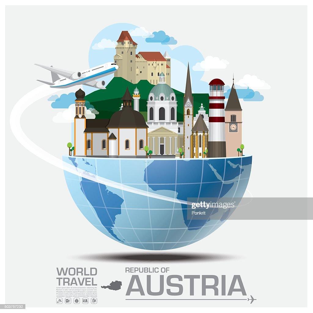 Austria Landmark Global Travel And Journey Infographic