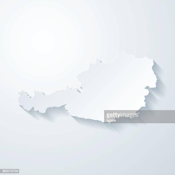 Österreich Karte mit Papier geschnitten Wirkung auf leeren Hintergrund
