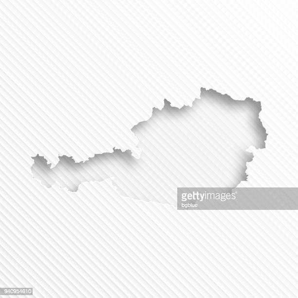 Österreich Karte mit Papier Schneiden auf abstrakte weißen Hintergrund