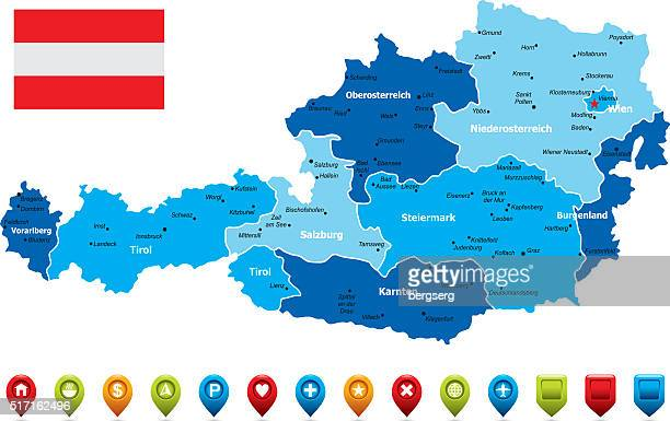 Österreich Karte-Vektor-Illustration