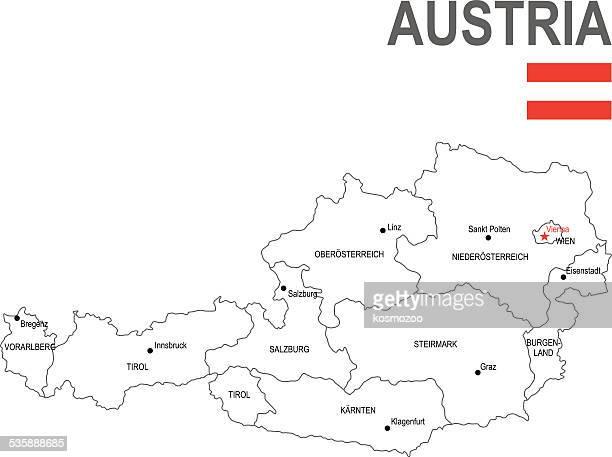 österreich - hauptstadt stock-grafiken, -clipart, -cartoons und -symbole