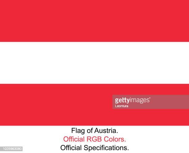 Österreichische Flagge (offizielle RGB-Farben und Spezifikationen)