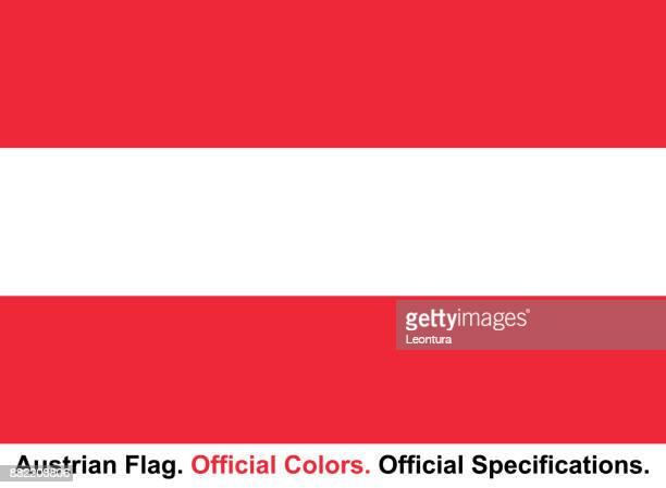 Österreichische Flagge (offizielle Farben, offiziellen Spezifikationen)