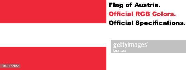 Österreichische Flagge (offizielle RGB-Farben)