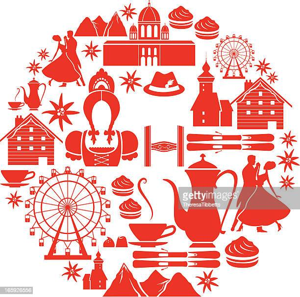stockillustraties, clipart, cartoons en iconen met austrian icon set - gewalt