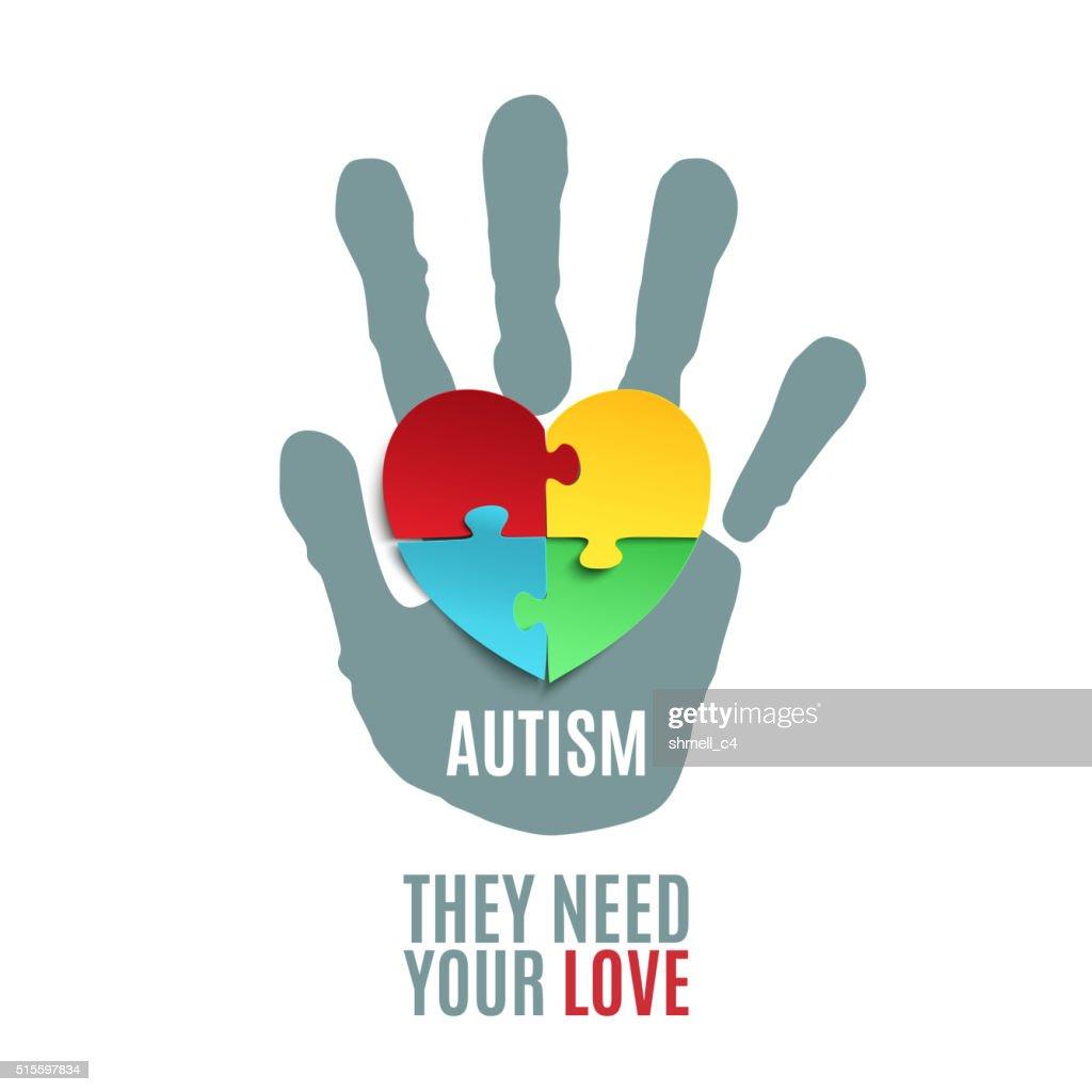 Autism awareness poster template.