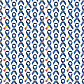 Autism Awareness Seamless Pattern
