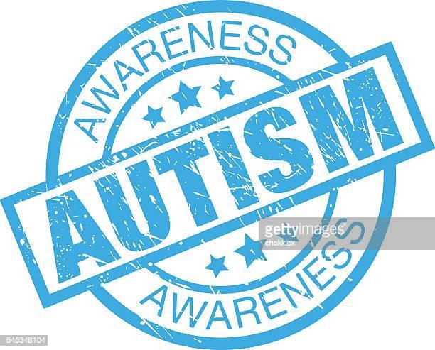 ilustraciones, imágenes clip art, dibujos animados e iconos de stock de concienciación sobre el autismo - autismo