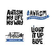 Autism hand drawn lettering