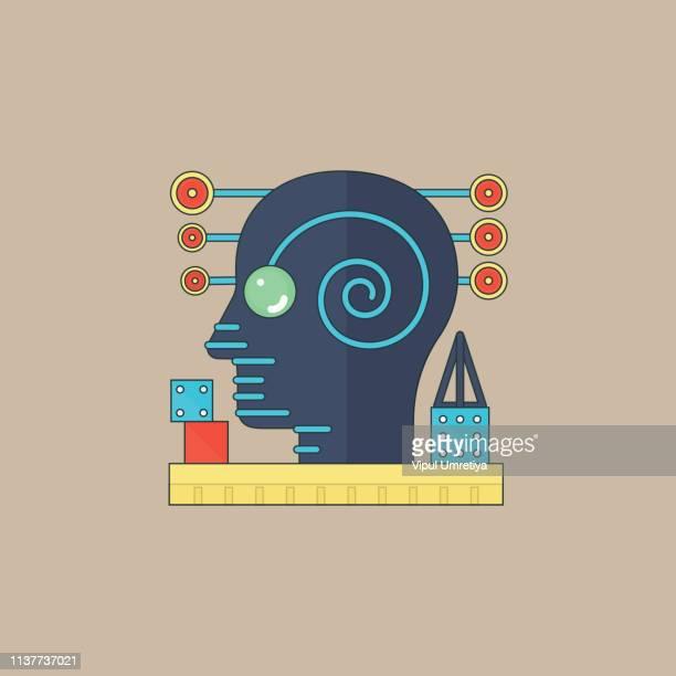 ilustraciones, imágenes clip art, dibujos animados e iconos de stock de concepto de icono de autismo - autismo