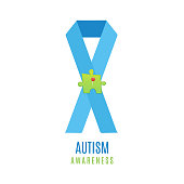 Autism puzzle heart poster