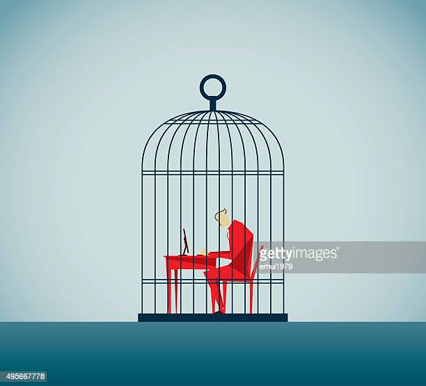 autism - cage stock illustrations, clip art, cartoons, & icons