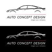 Auto concept design card. Vector illustration.