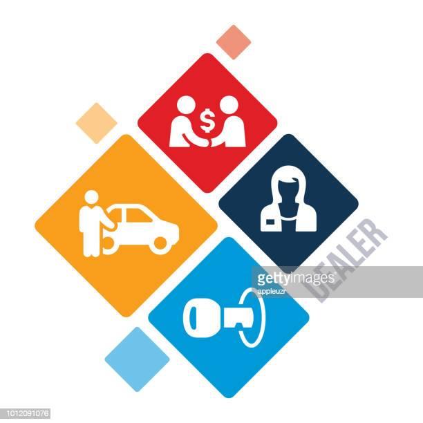 auto dealer illustration - legal document stock illustrations, clip art, cartoons, & icons
