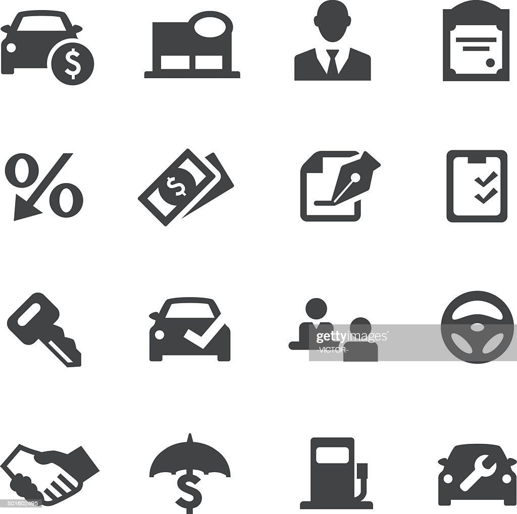 Auto Dealership Icons - Acme Series : Stock Illustration