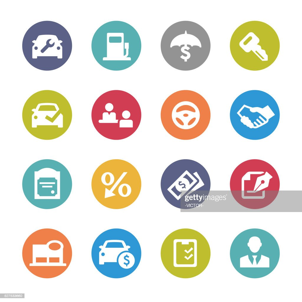 Auto Dealership Icons - Circle Series