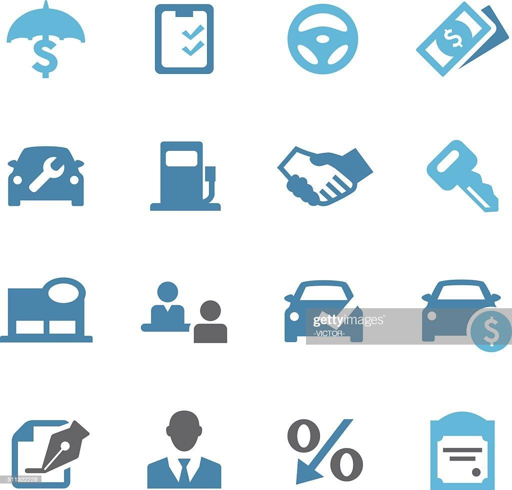 Auto Dealership Icons - Conc Series : Stock Illustration