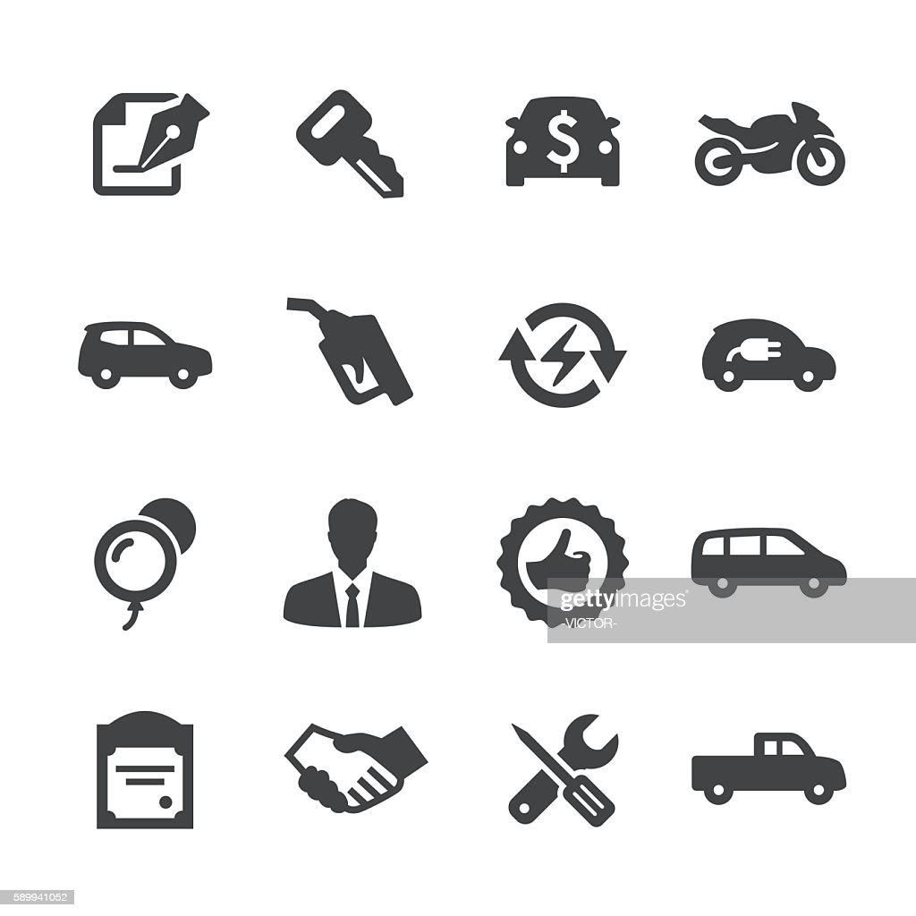 Auto Dealership Icons Set - Acme Series : Stock Illustration