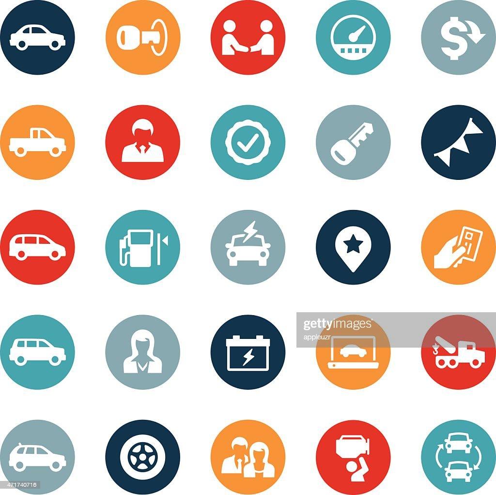 Types Of Car Symbols >> Icônes De Concessionnaire Automobile Clipart vectoriel   Getty Images