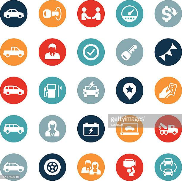 auto dealership icons - car salesperson stock illustrations, clip art, cartoons, & icons