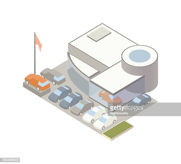 auto dealership illustration - mathisworks vehicles stock illustrations