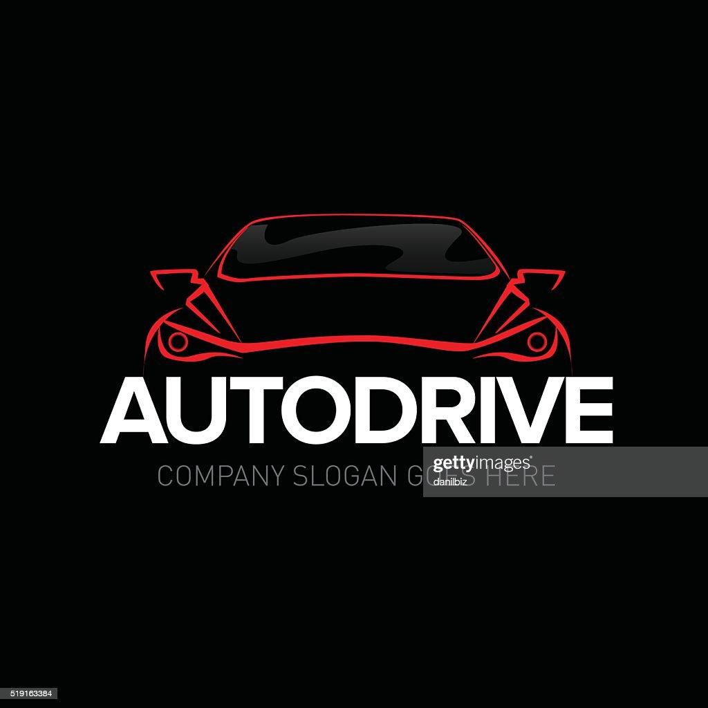 Auto drive car service emblem template
