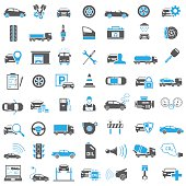 Auto Icons in Blue and Black Color