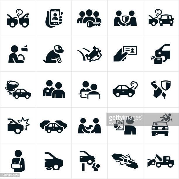 illustrations, cliparts, dessins animés et icônes de icônes d'assurance automobile - permis de conduire