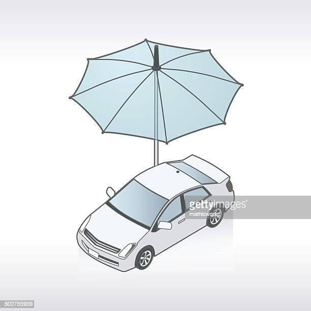 stockillustraties, clipart, cartoons en iconen met auto insurance illustration - mathisworks