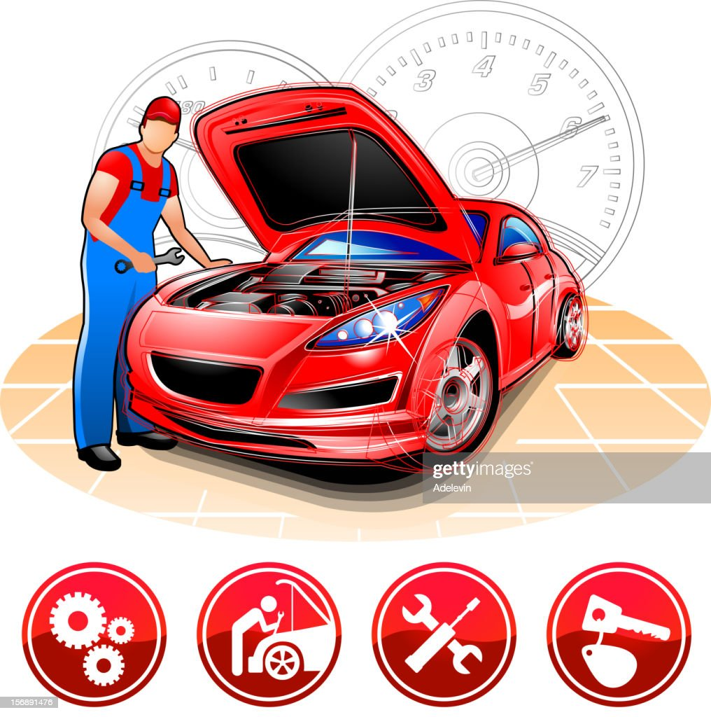 Auto mechanic at repair shop