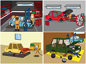 Auto mechanic repair and fix and service s