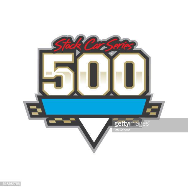 auto racing 500 logo - race car stock illustrations, clip art, cartoons, & icons