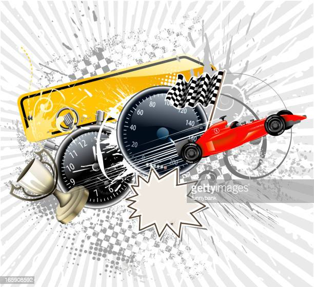 auto racing backround - go carting stock illustrations, clip art, cartoons, & icons
