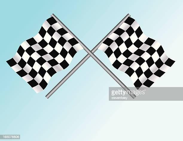 auto racing flags - street racing stock illustrations, clip art, cartoons, & icons
