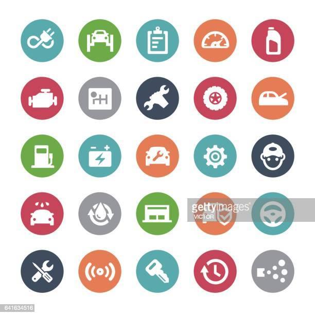Auto Repair Shop Icons - Bijou Series