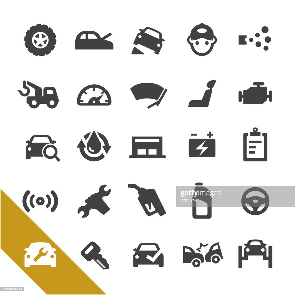 Auto Repair Shop Icons - Select Series : stock illustration